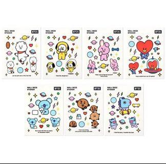 [OFFICIAL] BT21 WALL DECO STICKER