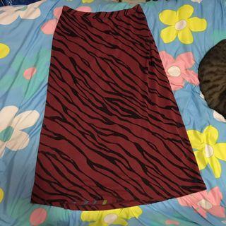 🚚 義大利 酒紅色虎紋豹紋透膚 雪紡無袖長裙 紅層黑紗線交織 質感好