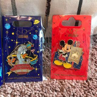 HKDL 迪士尼襟章 Disney pin 唐老鴨 三眼仔 donald aliens mr potato