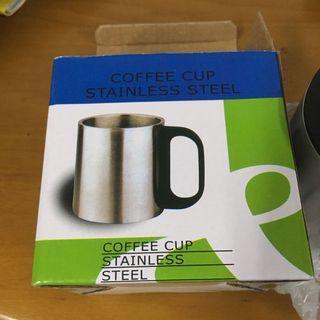 全新 小鋼杯 露營 戶外 野外 方便 鋼杯 咖啡杯 有蓋子 不鏽鋼