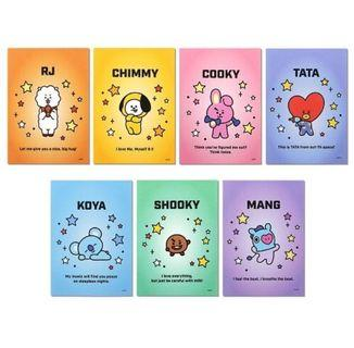 [OFFICIAL] BT21 MEMO PAD LIST