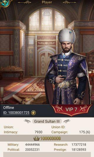 Account Game of Sultans
