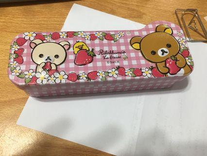 Rilakkuma x darlie pencil case metal box tin