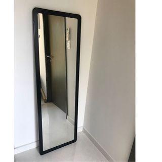Mirror, Black Frame - Sleek Design, 45cm x 140cm