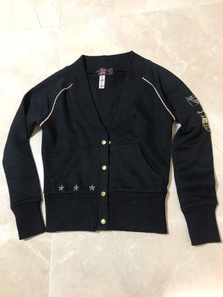 LIZ LISA doll black on black Queen of the Miscellaneous gold stars ⭐️ cardigan jacket 金星黑色外套