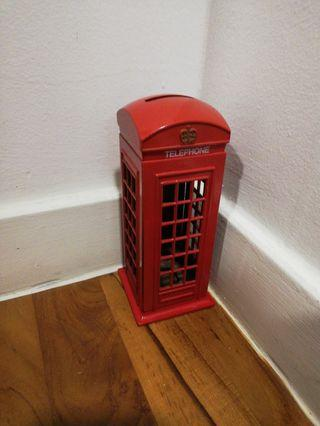 London Telephone Box Coin Bank