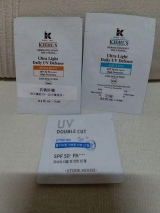 包郵 Kiehl's , Edude House 防曬sample