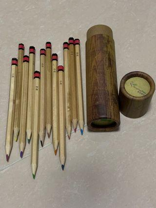 郵局紀念品求籤木顏色筆