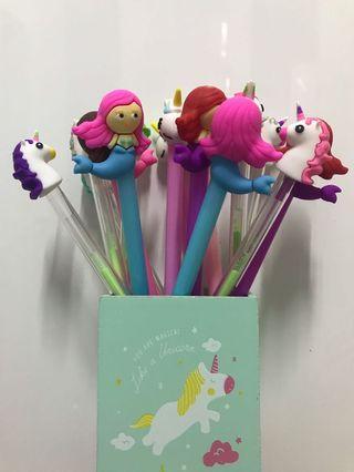 Unicorn and Mermaid Pen