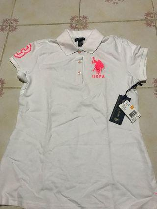 USPA White Polo Shirt