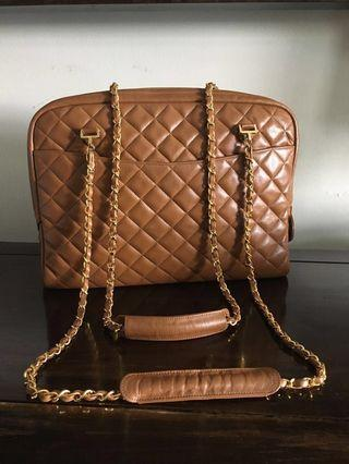 Super gorgeous Brown Quilted Lambskin Tote