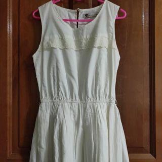 TEMT White A-line dress #EndgameYourExcess