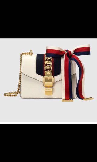🚚 Gucci Sylvie Leather Mini Chain Bag
