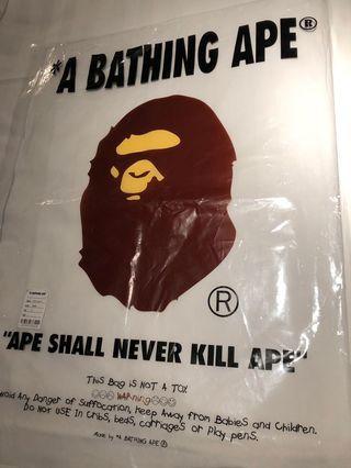 'A Bathing Ape' plastic bag