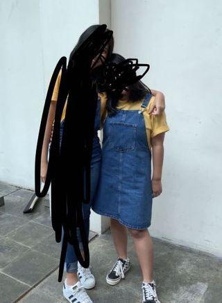 STRADIVARIUS Overall Jeans