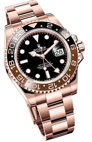 Rolex Full Rose Gold GMT Master II Rootbeer