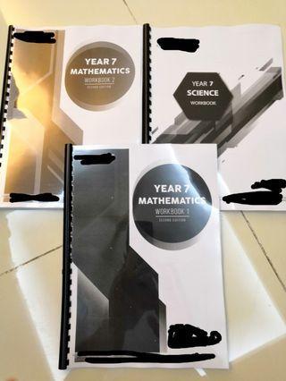Igcse year 7 workbooks, yr 9 and yr 11