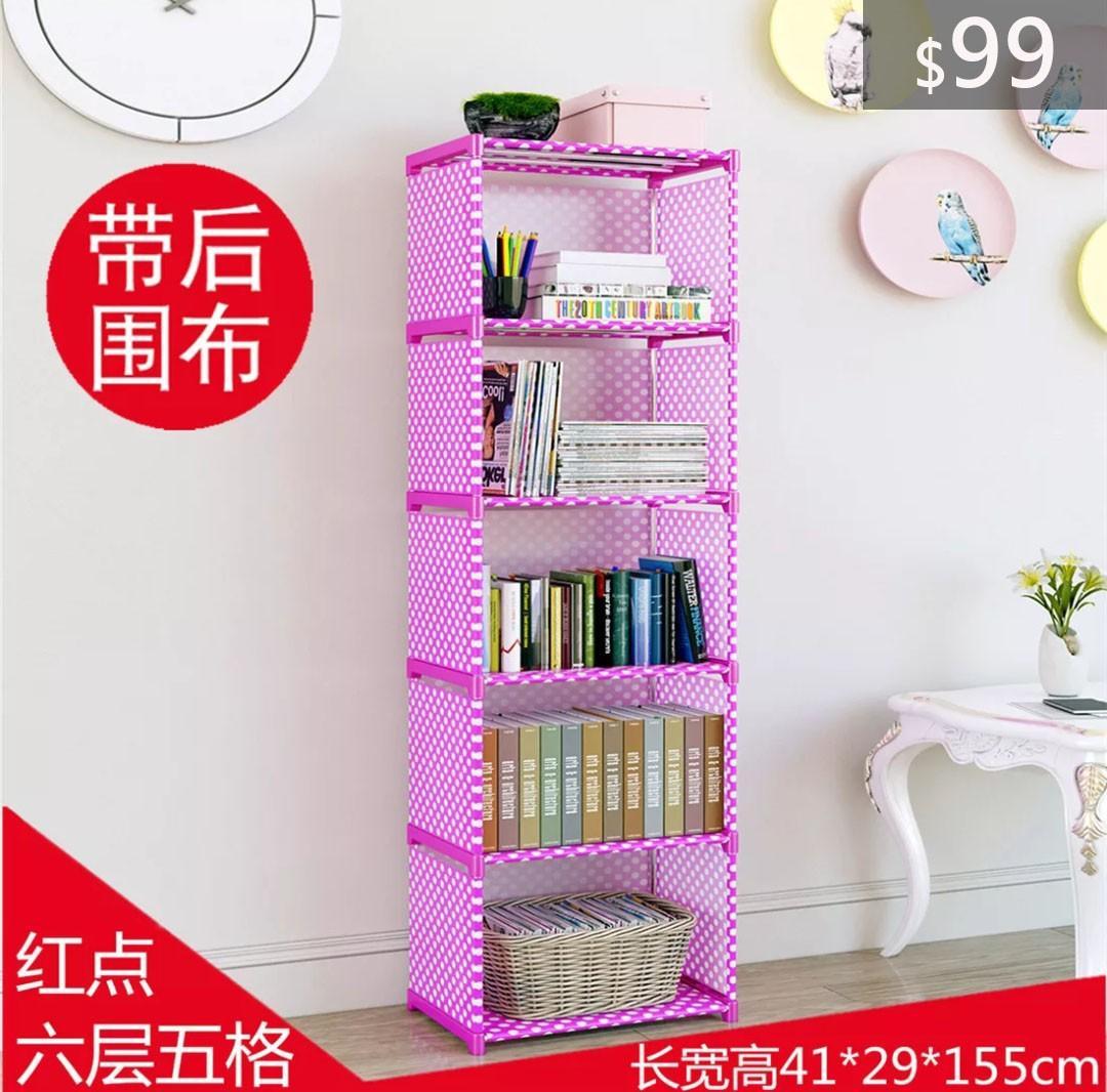 (深水埗交收)特價:$99 加高加寬書架 6層5格 書架 書櫃 雜物架 Bookrack Bookshelf