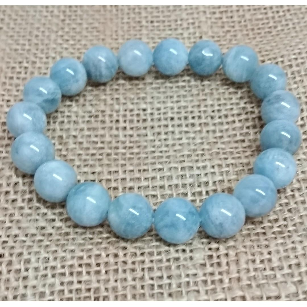 天然水晶 海藍寶手串 11mm