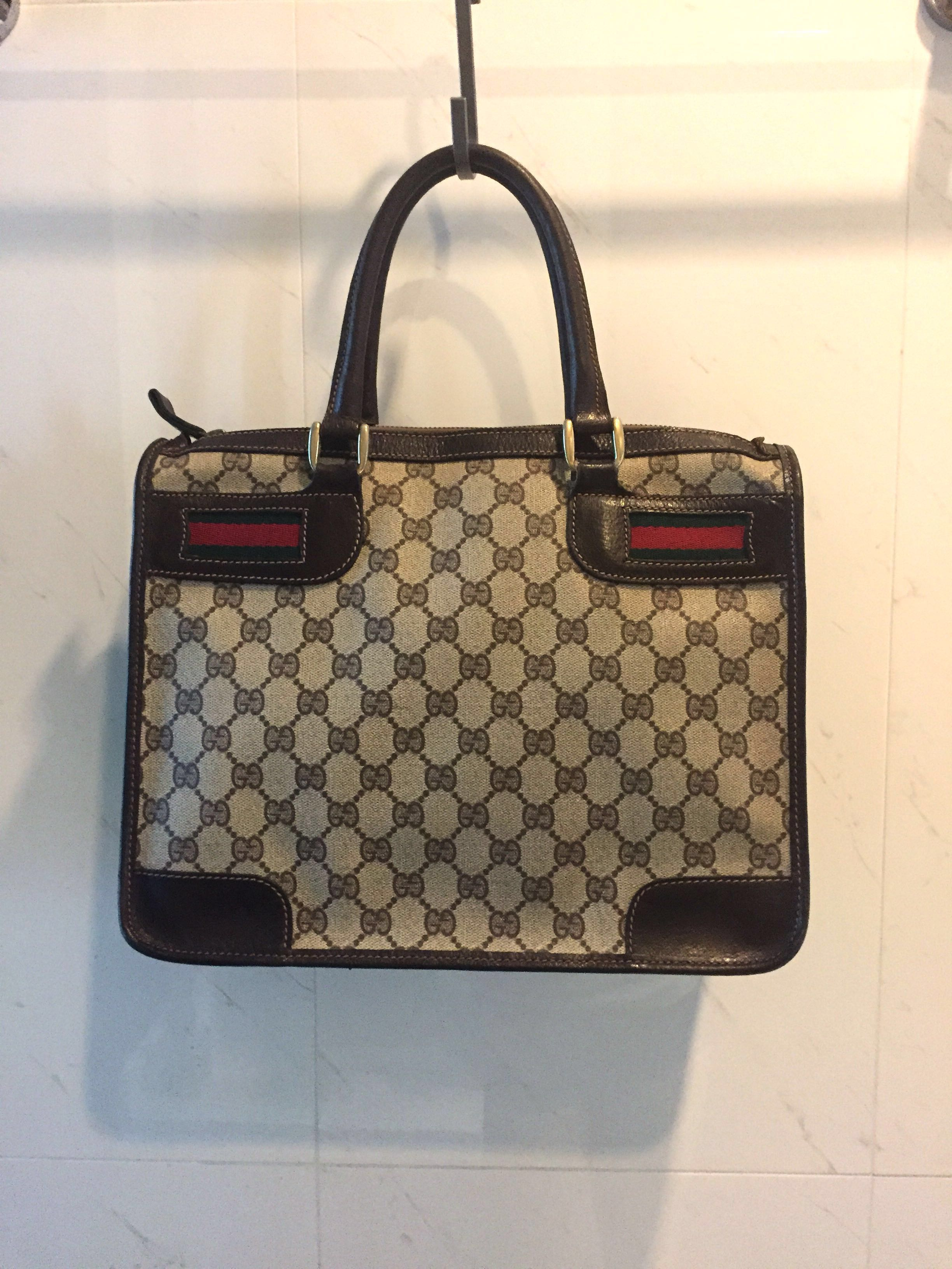 7480bc32bcd 💯% Authentic Vintage Gucci Tote