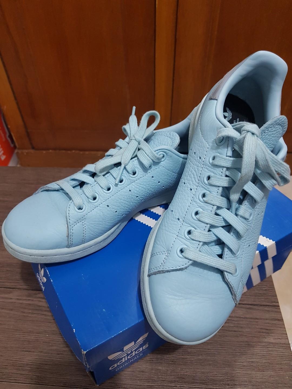innovative design b024e 98f0a Adidas stan smith size 5/38 warna ice blue ORI NO KW (beli di hyde PS)  belakangnya memang ada beludrunya ya sis dn warna nya memang tidak cerah  (boleh ...