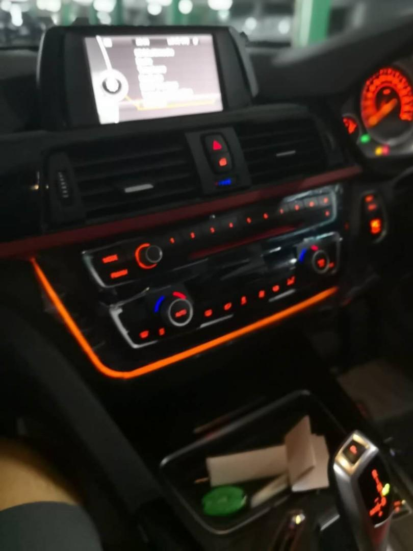 Ambient Led Light Strips Covers For Bmw 3 Series F30 F80 Interior Upgrade For Sharpened Lines