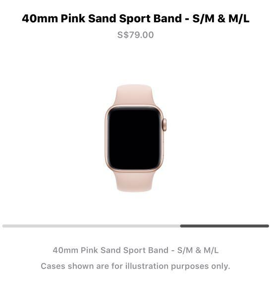 [BNIB] Apple Series 4 Watch Strap  -40mm Pink Sand Sport Band, S/M & M/L