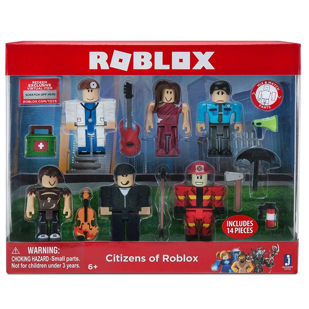 Roblox Toys Code Brand New Citizens Of Roblox Toy Figures With Virtual Item Code Toys Games Bricks Figurines On Carousell