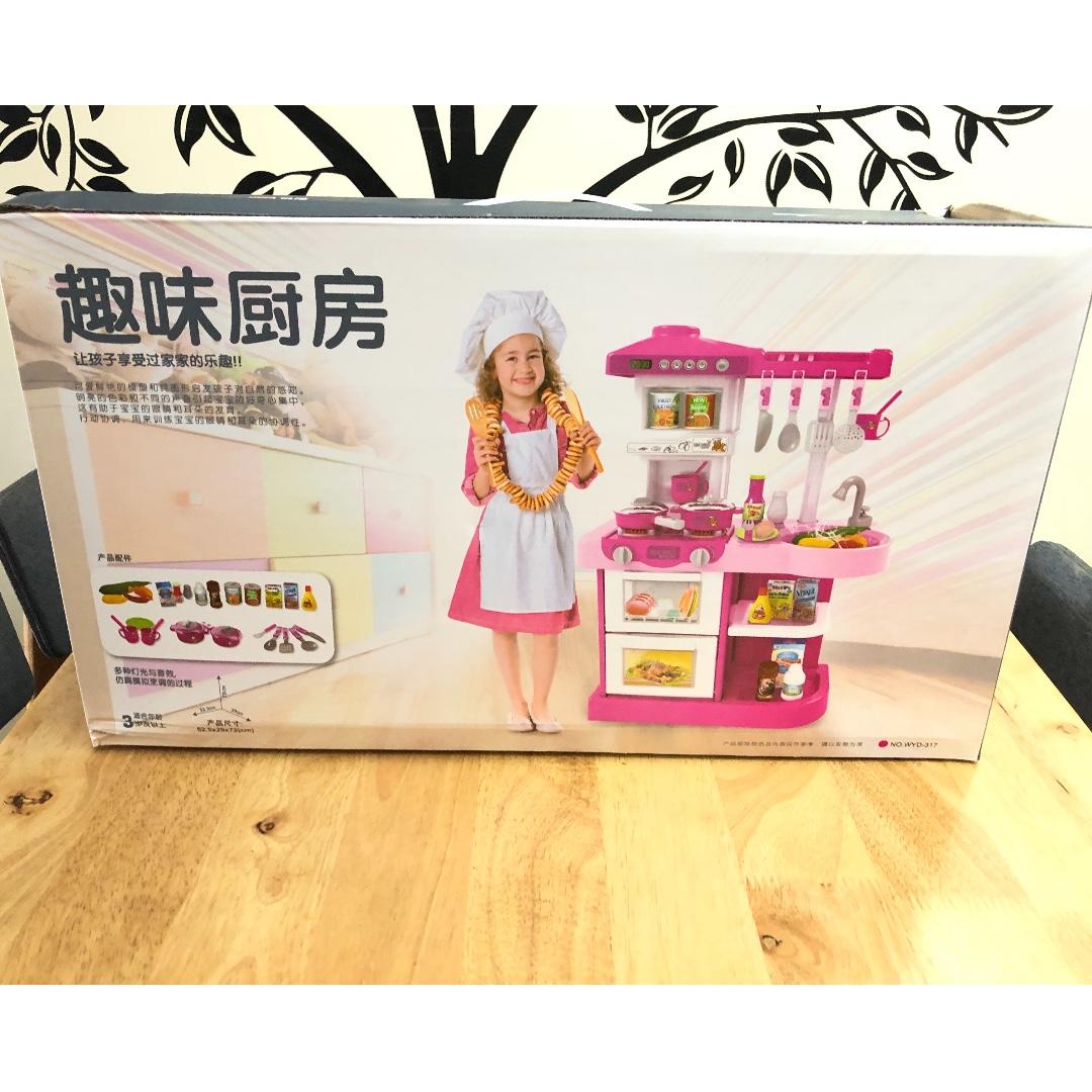 ☆brand new☆ mini toy kitchen set light on carousell