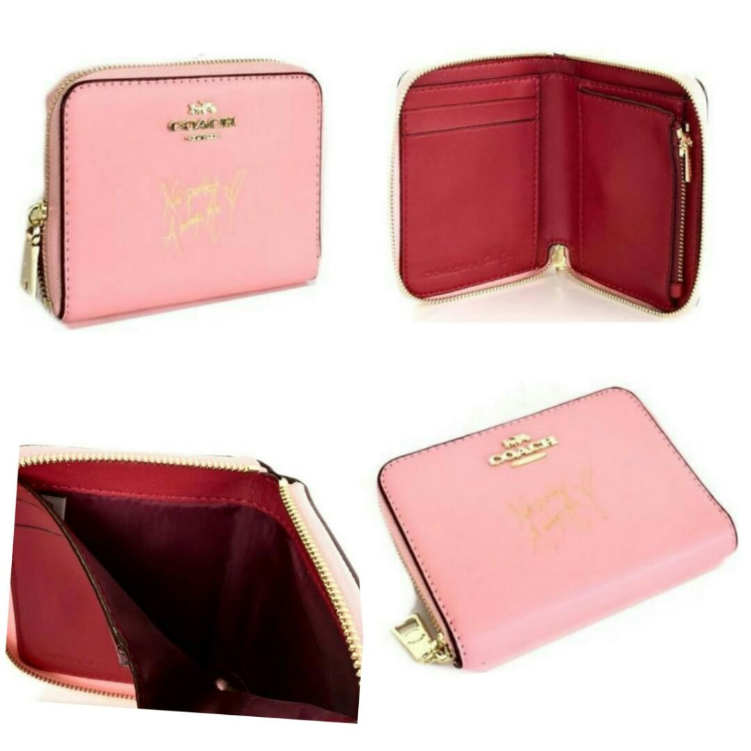 Coach Selena Small zip Around Wallet with Bunny / Dompet Coach Original / Coach Original Wallet