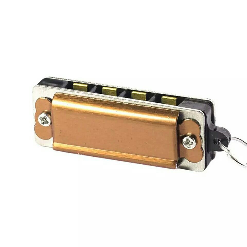 Colorful Mini Harmonica Necklace 8 Tone Harmonica Diatonic 4 hole Harmonica Blues Pendant Necklace Kids Musical Instruments
