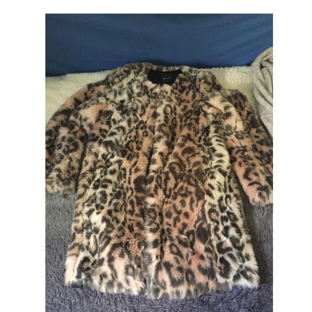 Dejuba fur coat bourght for 280 never worn and Decjuba cardigan