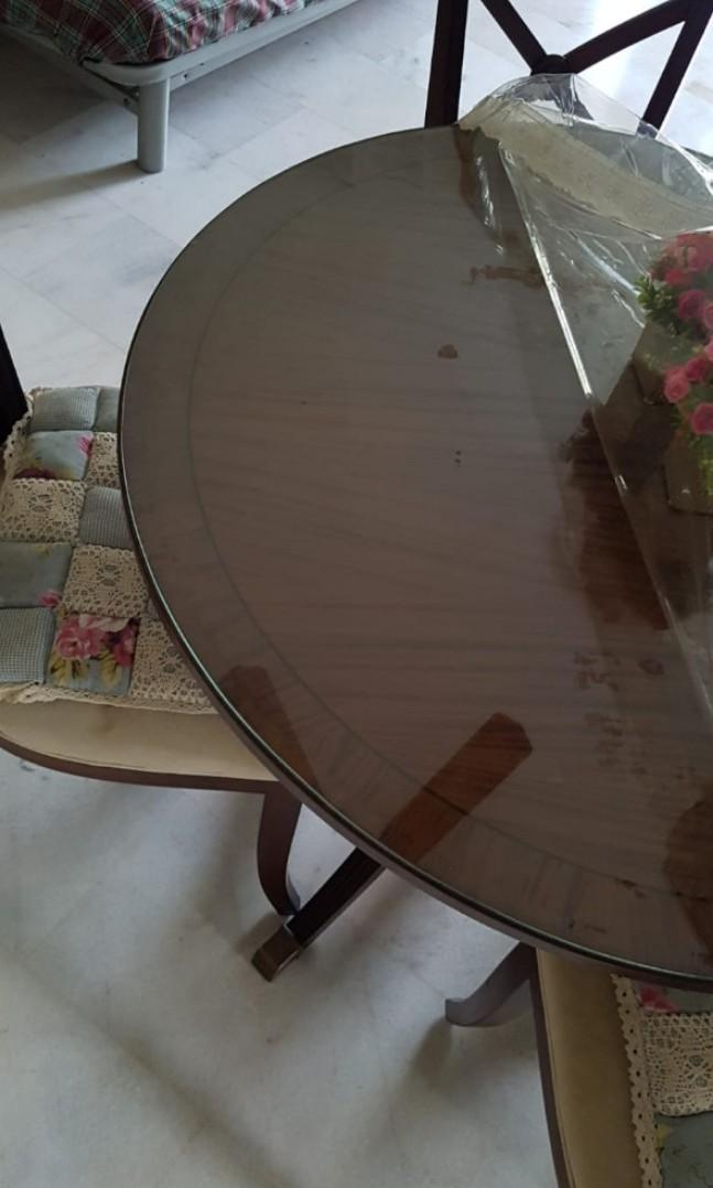 Dining Set with glass top