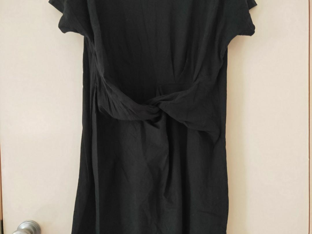DOTTI black dress with a knot