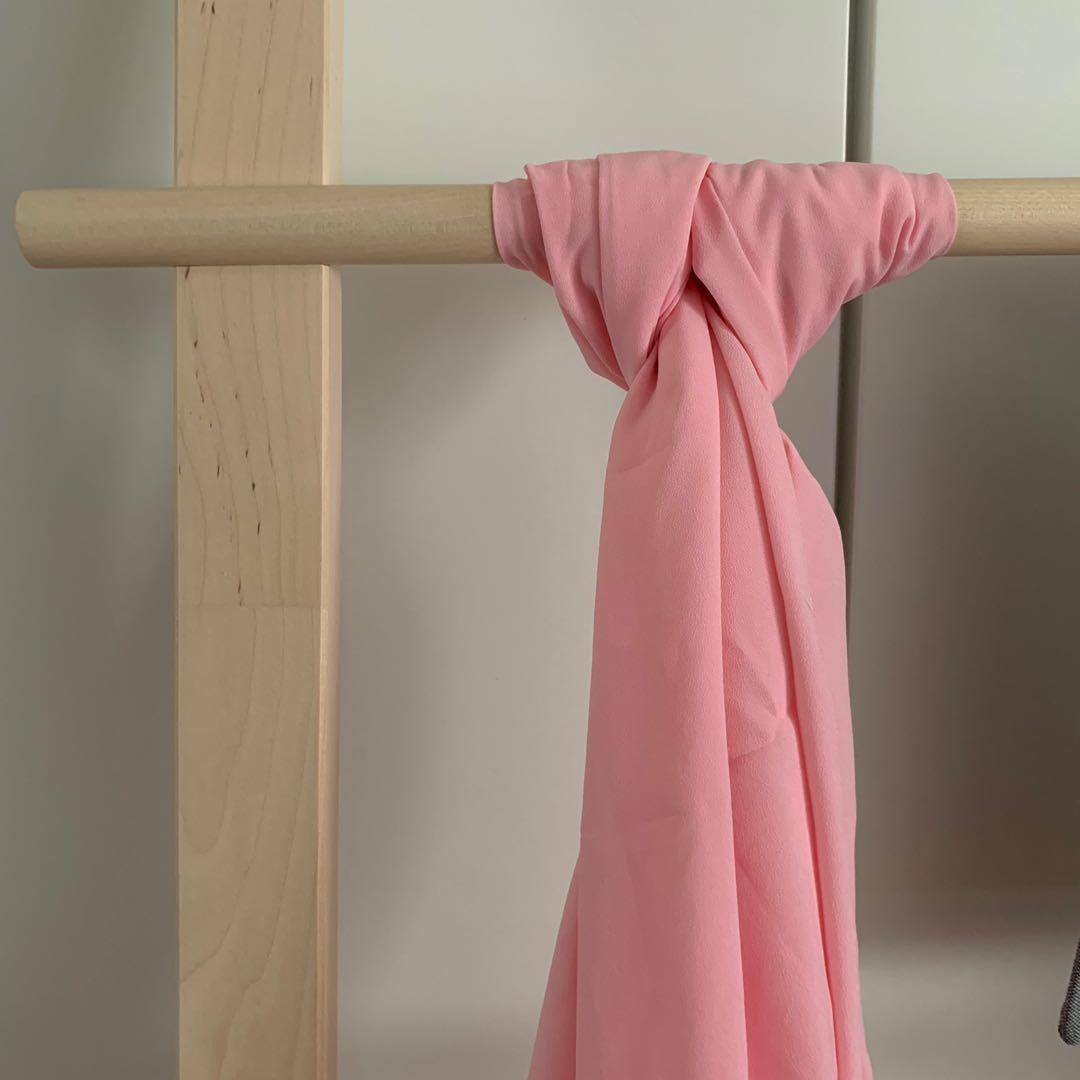 dUCk mixed crepe scarf in Pink Lemonade (authentic)