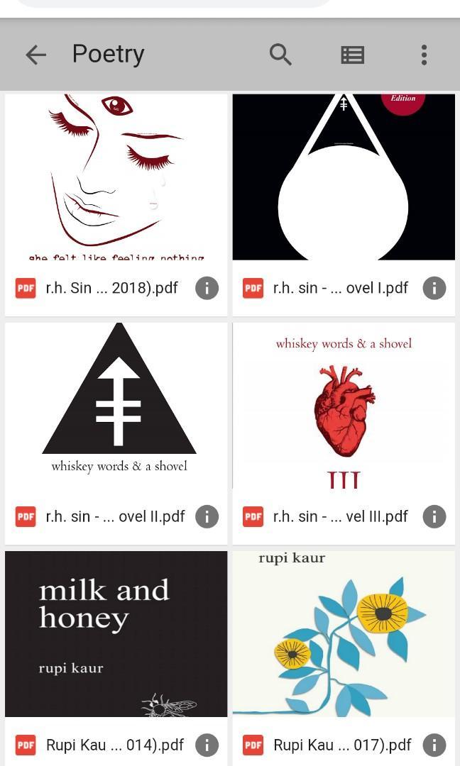ebook buku puisi lang leav, r.h. sin, rupi kaur, amanda lovelace, dll. BELI SATUAN.