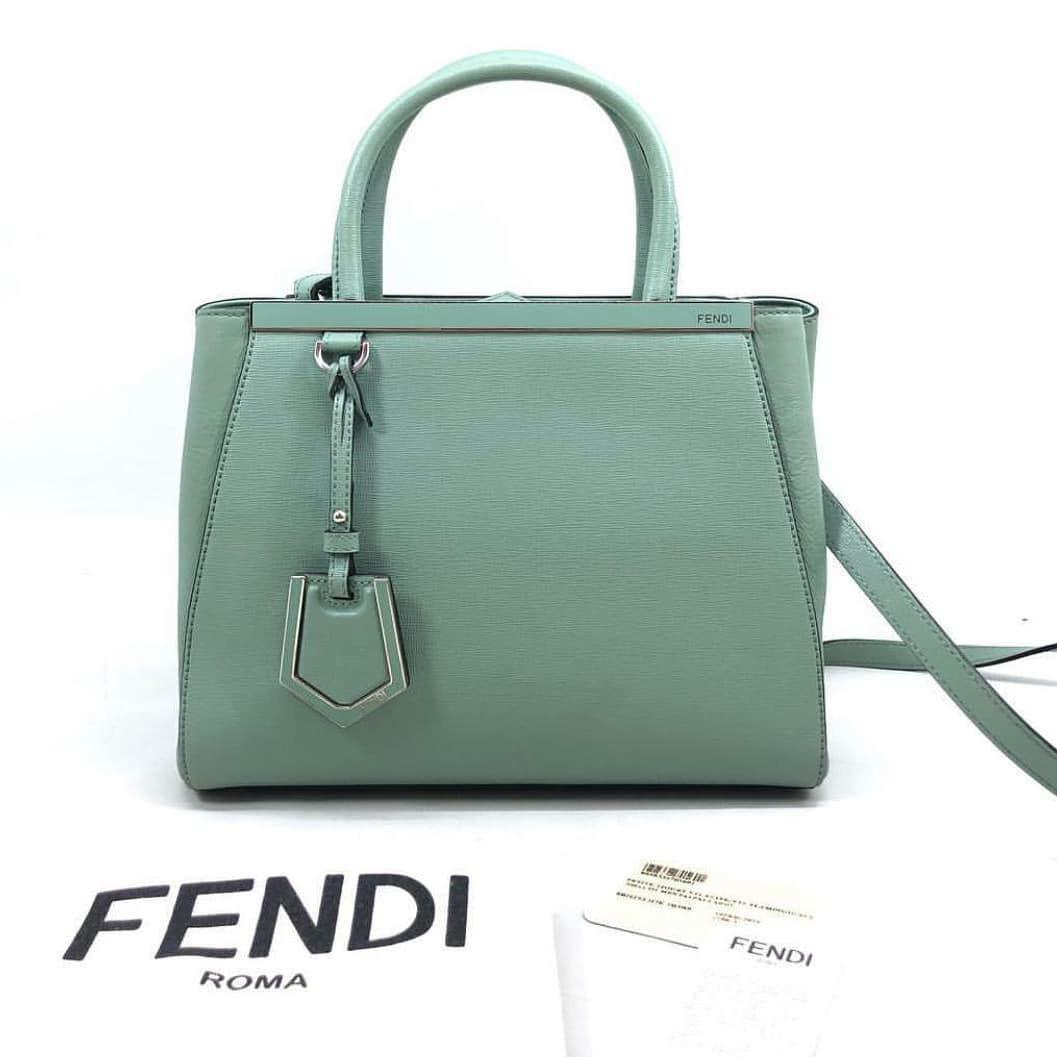 FENDI Petit 2Jours Flamingo SHW 2016 • 26 x 20 x 11.5 CM • Comes with style card & dust bag • Very good condition