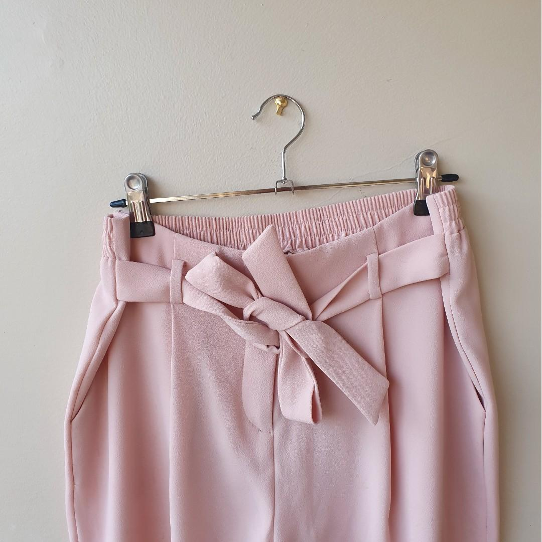 FOREVER NEW Natalia Tie Waist Tapered Pants Sz 10 in EUC Current Season