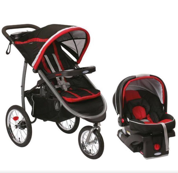 Graco Fastaction Fold Jogger Stroller Car Seat Click And Connect