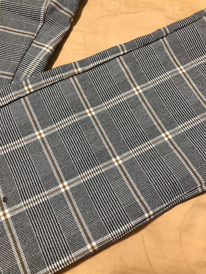 Grey tartan pants