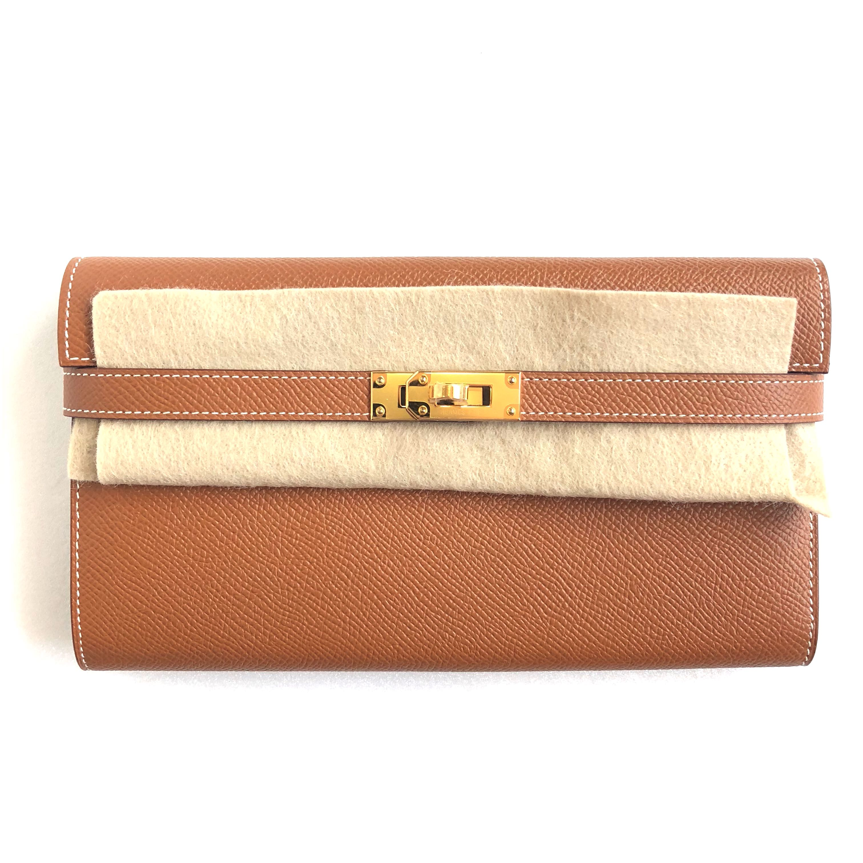 ddf2f913b1f5 Hermes - Gold Kelly Wallet Classique in Epsom with GHW