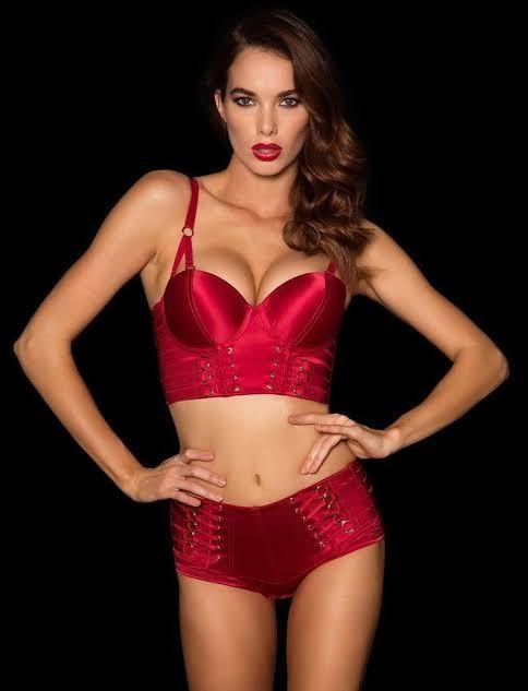 Honey Birdette Stevie Briefs Hotpants in red - Size XS
