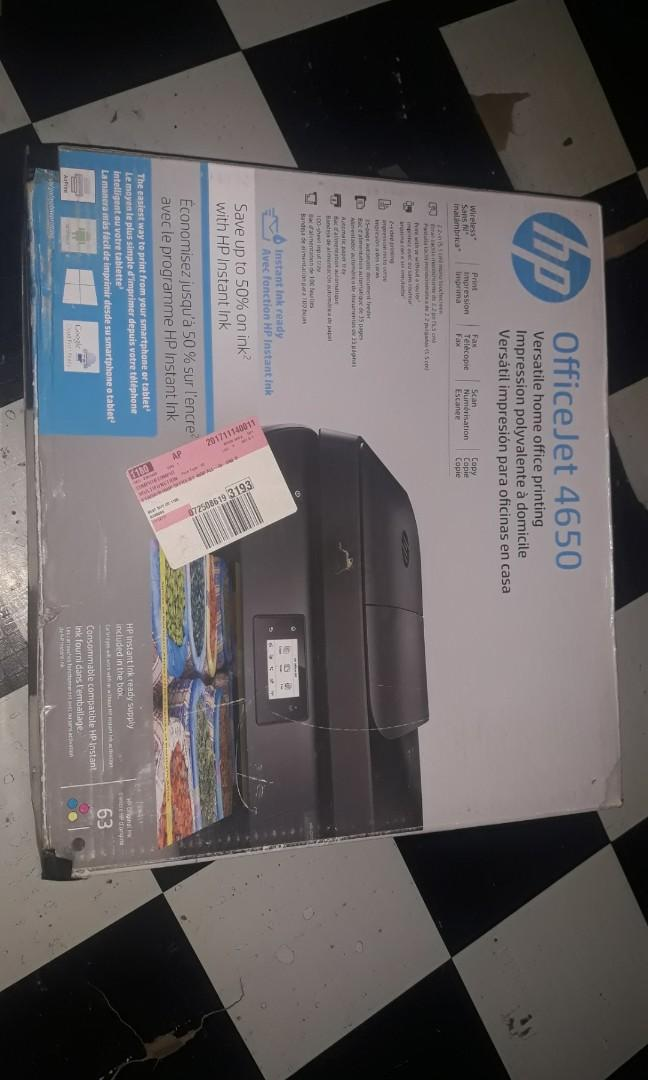 HP officeJet 4650 - With Wifi Operated on Carousell