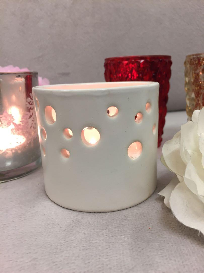 IKEA white candle holder 蠟燭杯