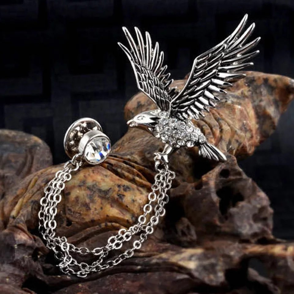 2c961c8f465b i-Remiel Fashion Men's Flying Eagle Brooch Vintage Party Formal Suits Lapel  Pins Brooch Men Classic Male Alloy Brooch Corsage, Men's Fashion,  Accessories, ...
