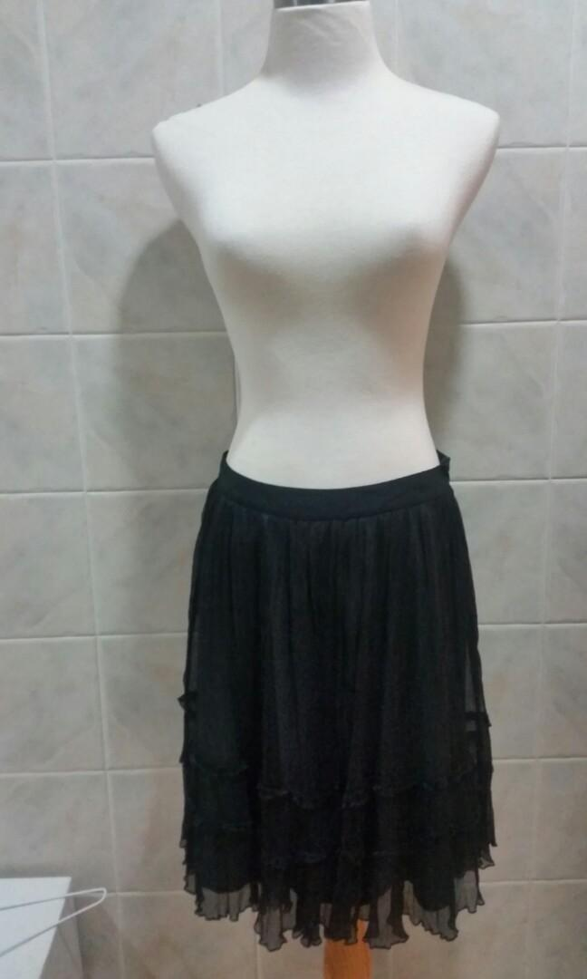 Ju's 黑紗裙半截 OL返工斯文裙 蓬蓬裙