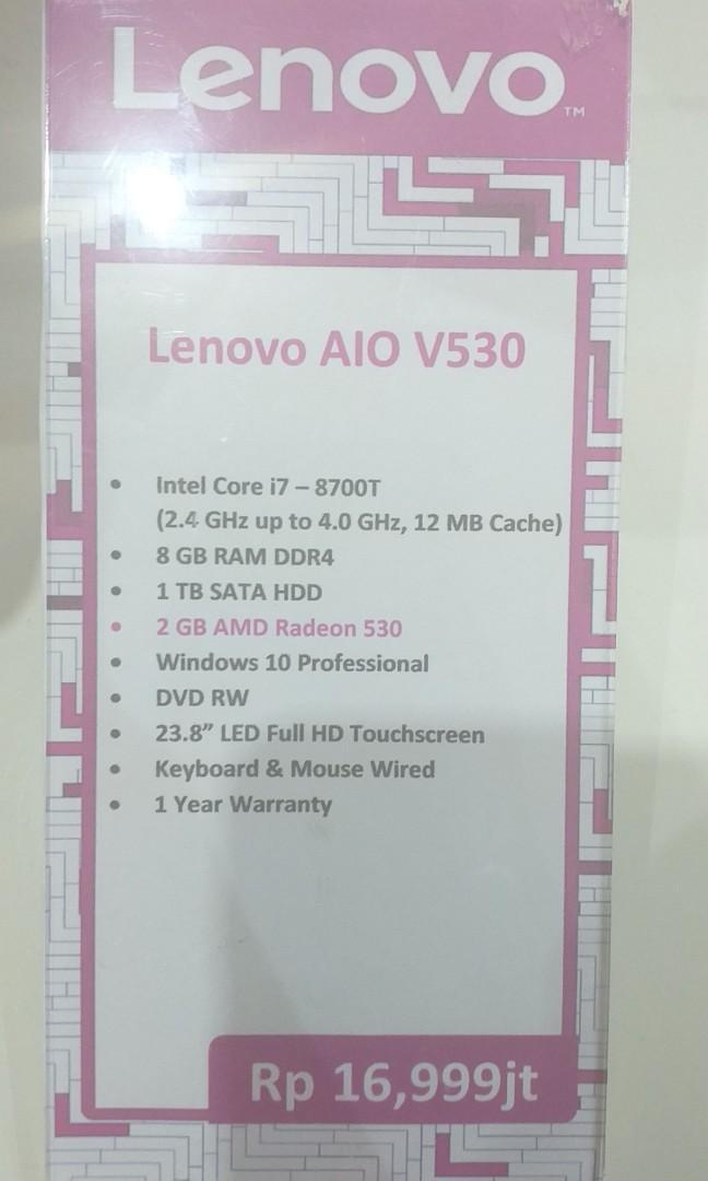 Kredit komputer pc lenovo AIO V530