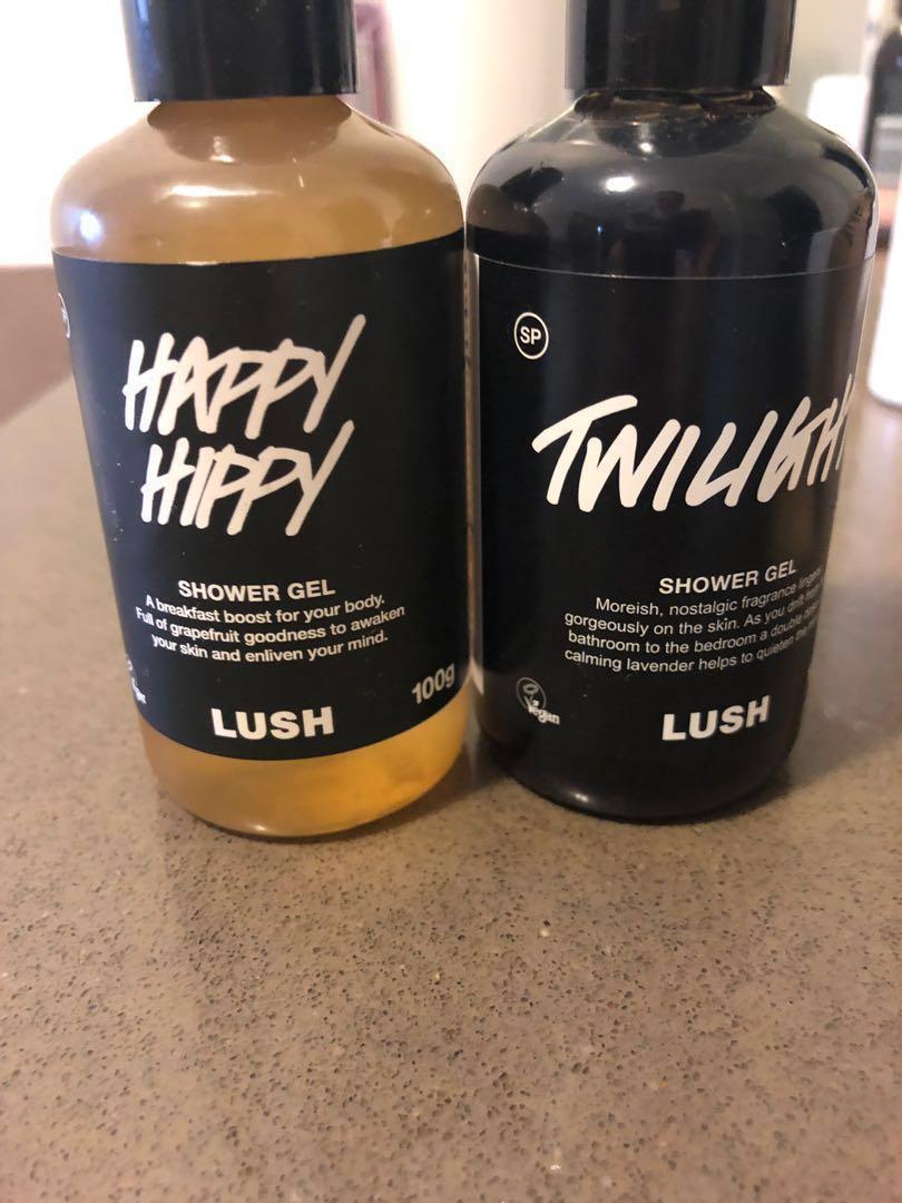 'Lush' $4each Twilight Shower Gel & Happy Hippy Shower Gel 100g