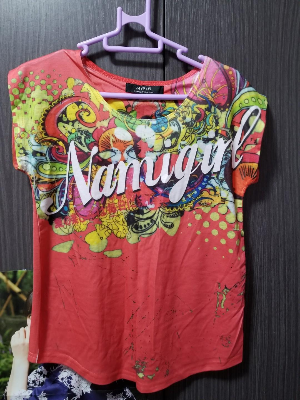 全新 Maple 棉質圖案T Shirt 有彈性