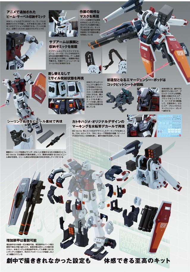 FA-78-1 Full Armor Gundam + Weapon & Armor Hanger MG 1/100 (注:Weapon & Armor Hanger 盒邊有損不影響內件)